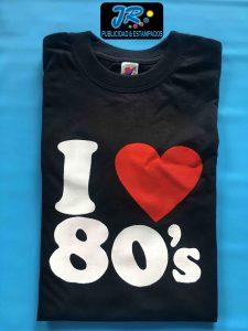 camiseta amo los 80