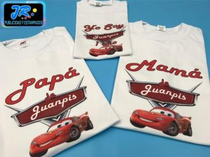 camiseta personalizada cars