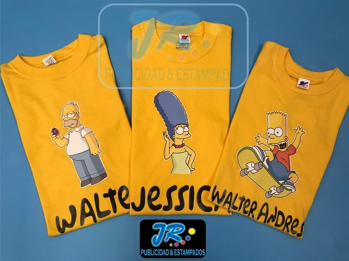 camiseta estampados centro bucaramaga los simpson