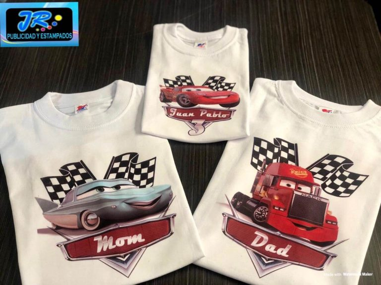 cars camiseta personalizada