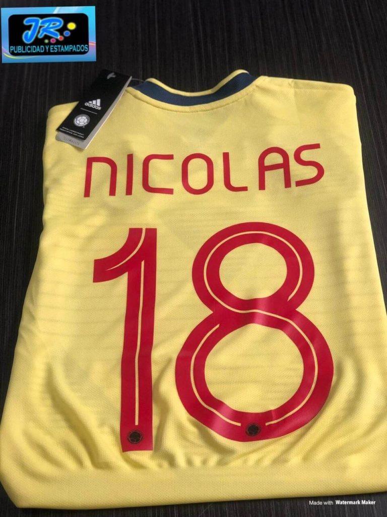 selección colombia camisetas personalizadas