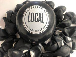 globos personalizados cervecería local santander
