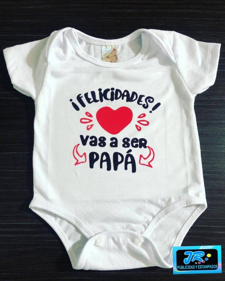 mamelucos personalizado felicidades vas a ser papa en bucaramanga