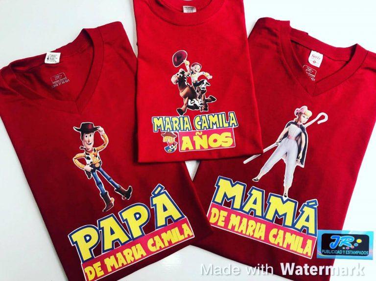 camisetas personalizadas familia toy Story
