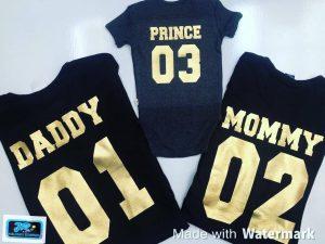 daddy mommy camisetas personalizadas