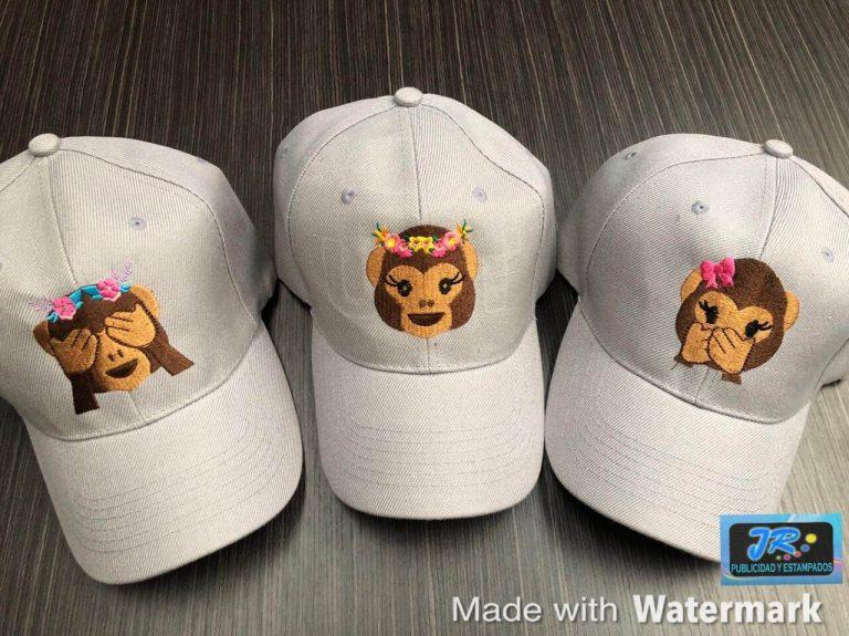 gorras personalizadas los monos bordadas