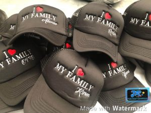 gorras personalizadas yo amo mi familia