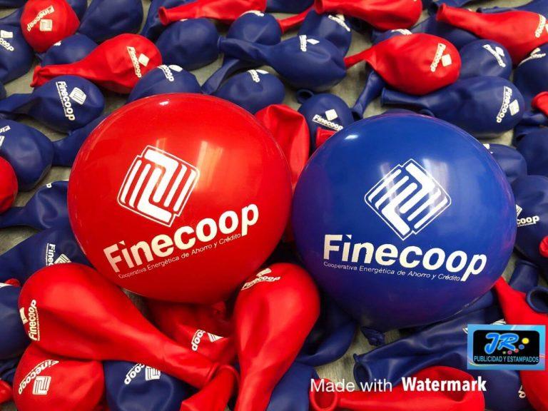 globos personalizados finecoop cooperativa energética de ahorro y crédito