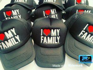 amo a mi familia gorras personalizadas
