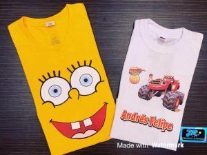 camisetas personalizadas bob esponja andres felipe