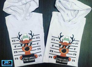 camisetas personalizadas renos navidenos