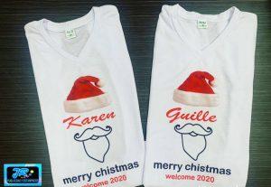camisetas personalizadas navideñas merry christmas welcome 2020