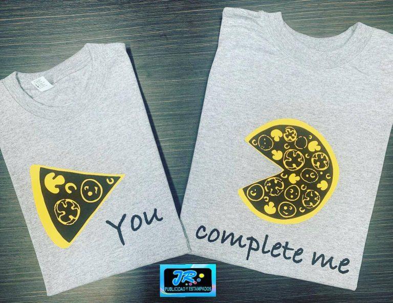 camisetas personalizadas tu me complementas