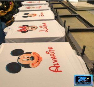 camiseta personalizada mickey y minnie mouse