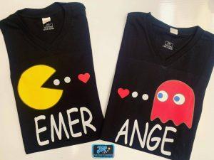 camisetas personalizadas pacman emer ama a ange