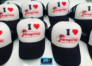gorras personalizadas yo amo paraguitas