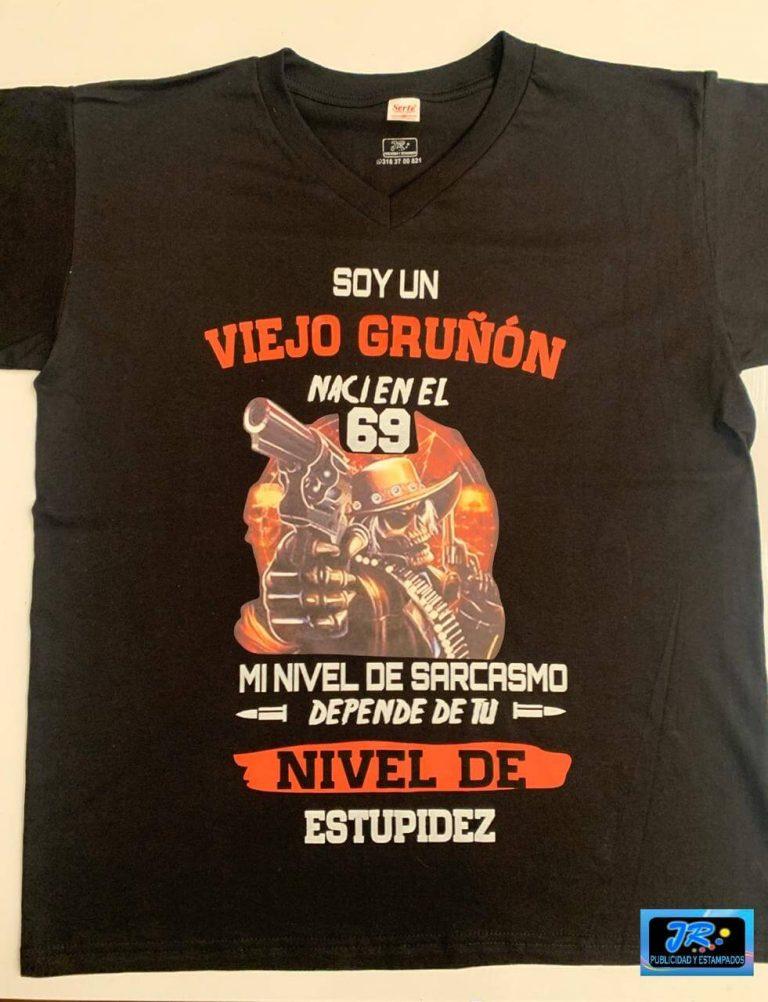 viejo gruñón camiseta personalizada
