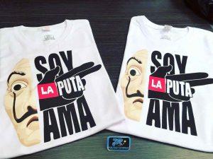 camisetas personalizadas soy la puta ama