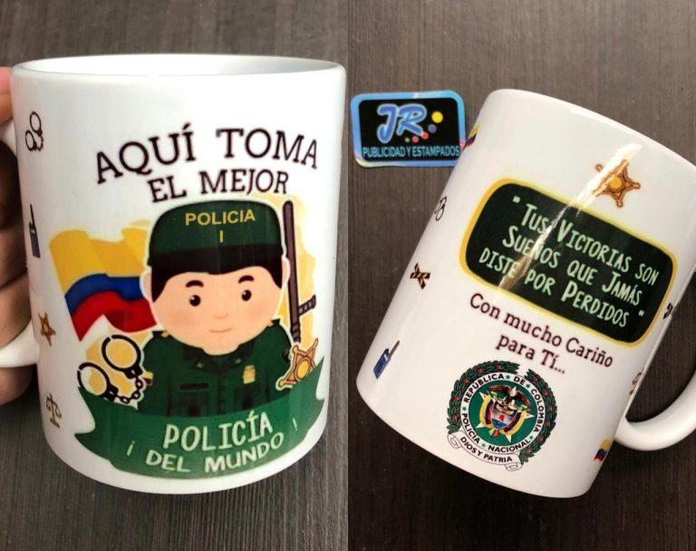 aquí toma el mejor policia del mundo mugs personalizados bucaramanga