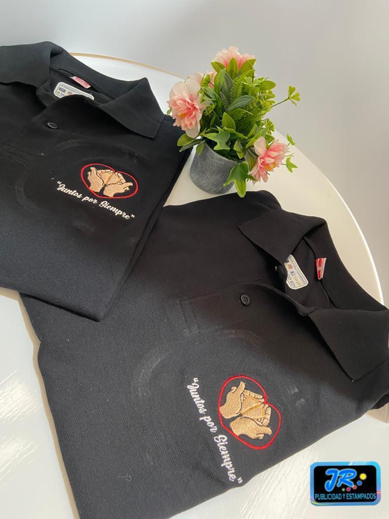 bordados personalizados para polos juntos por siempre
