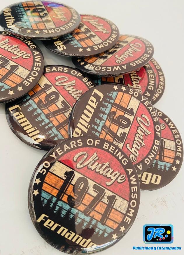 botones personalizados 1971 vintaje