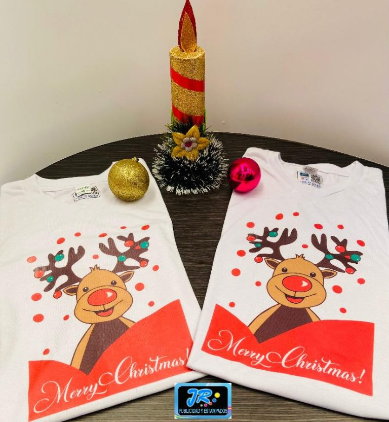 camiseta navideña merry christmas