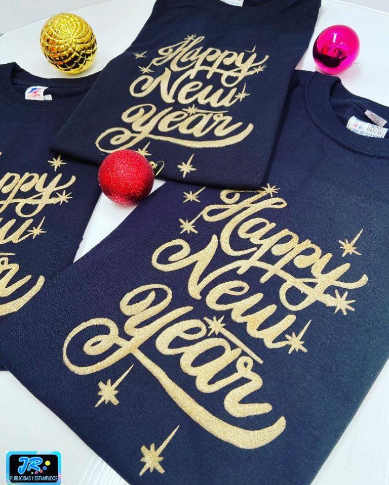 camisetas navideñas happy new year