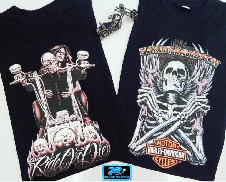 camisetas personalizadas de calaveras rockeros