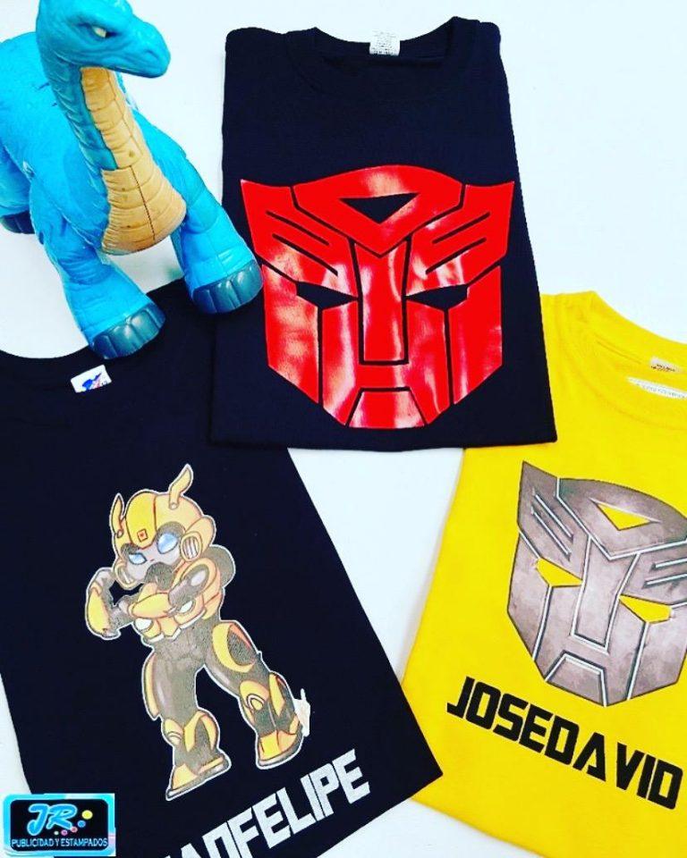camisetas personalizadas los transformers