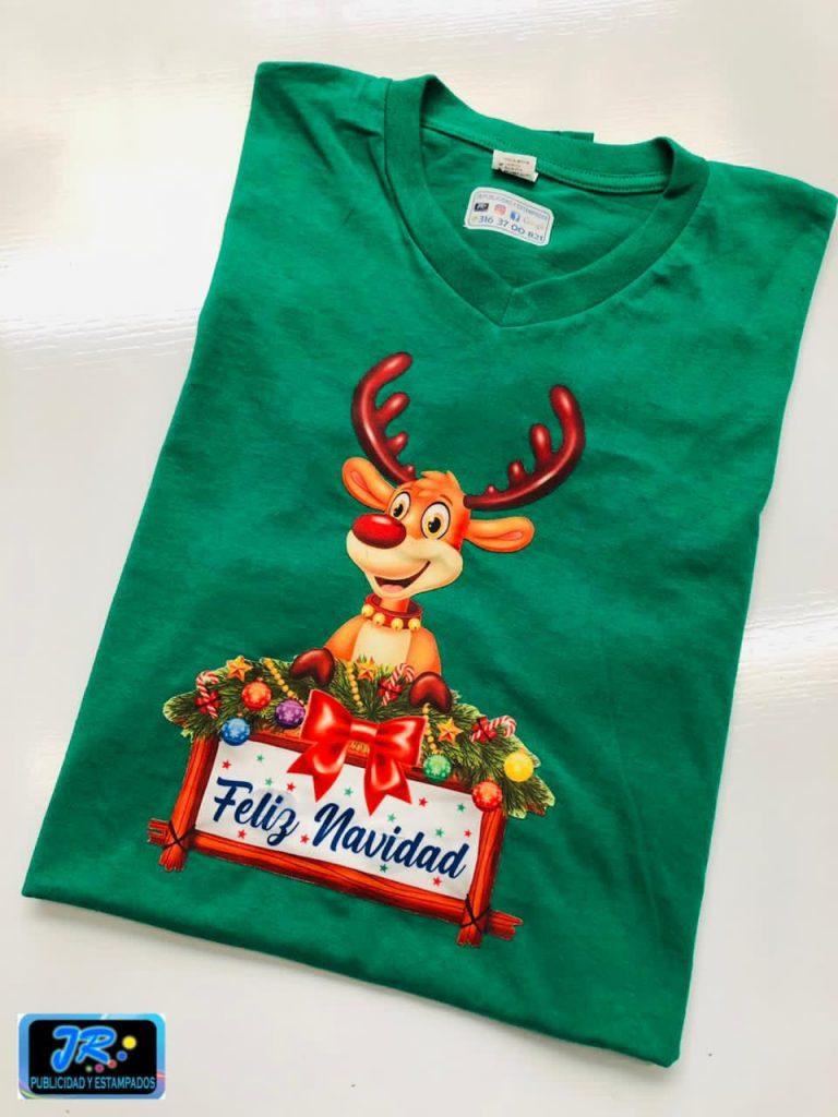 camisetas personalizadas navideñas feliz navidad