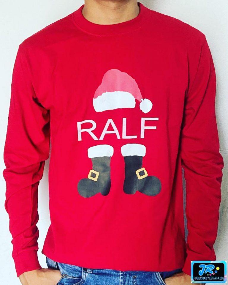 camisetas personalizadas navideñas ralf