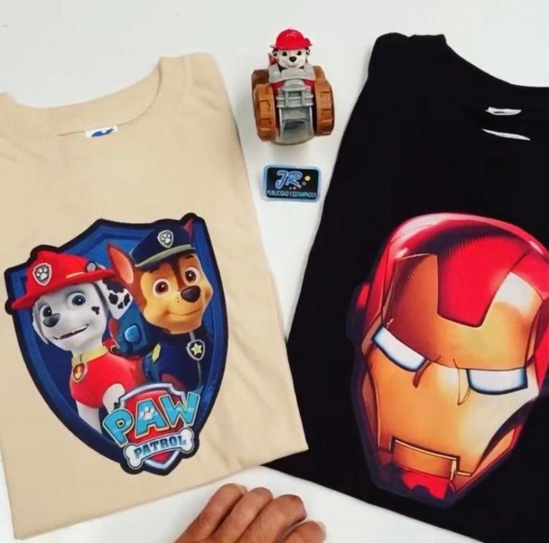 camisetas personalizadas tematicas para niños
