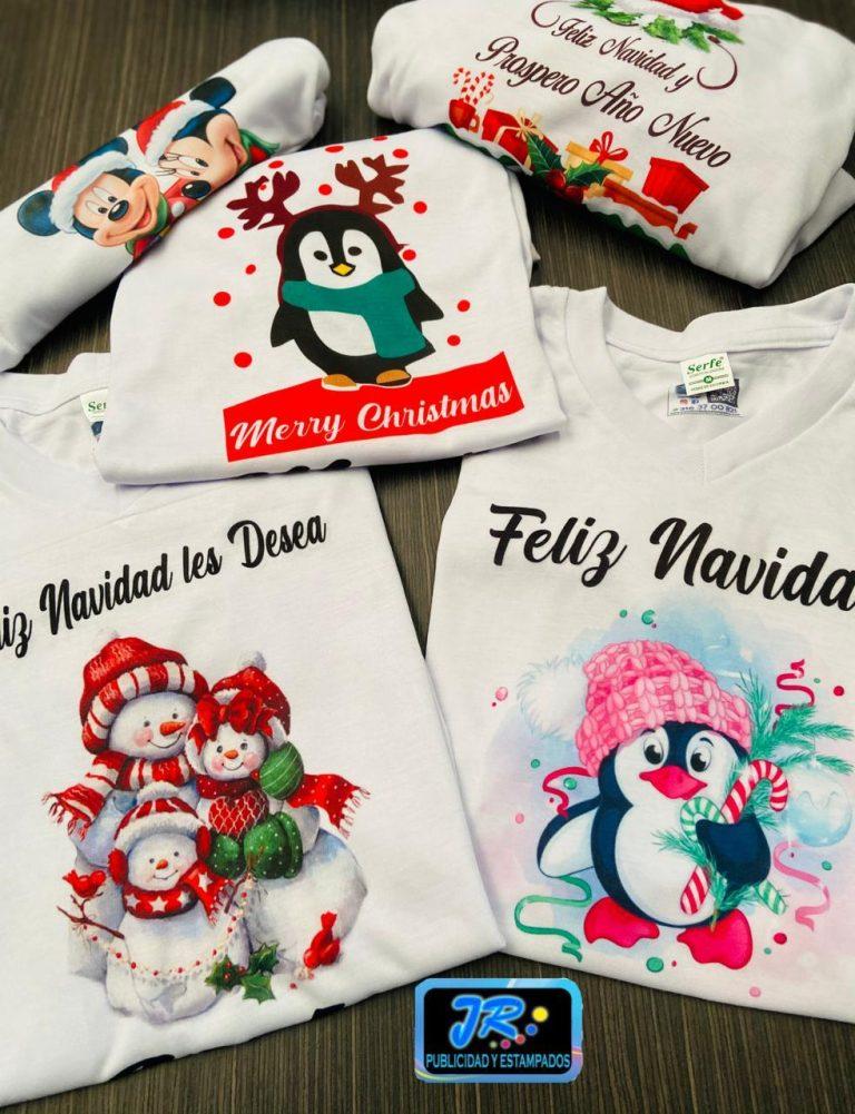 feliz navidad les desea camisetas personalizadas