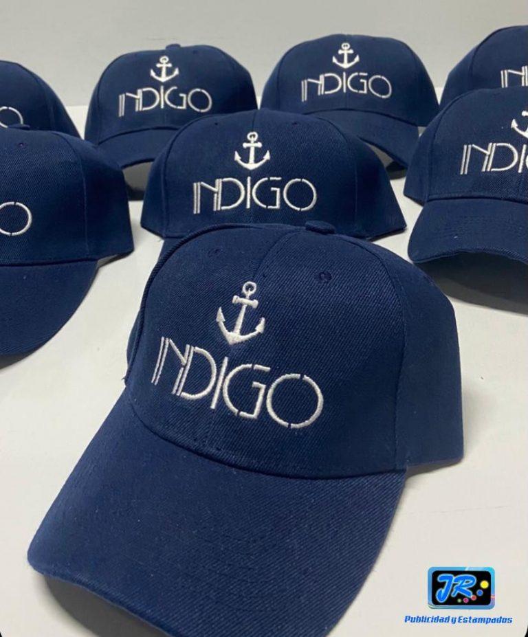 gorras personalizadas indigo