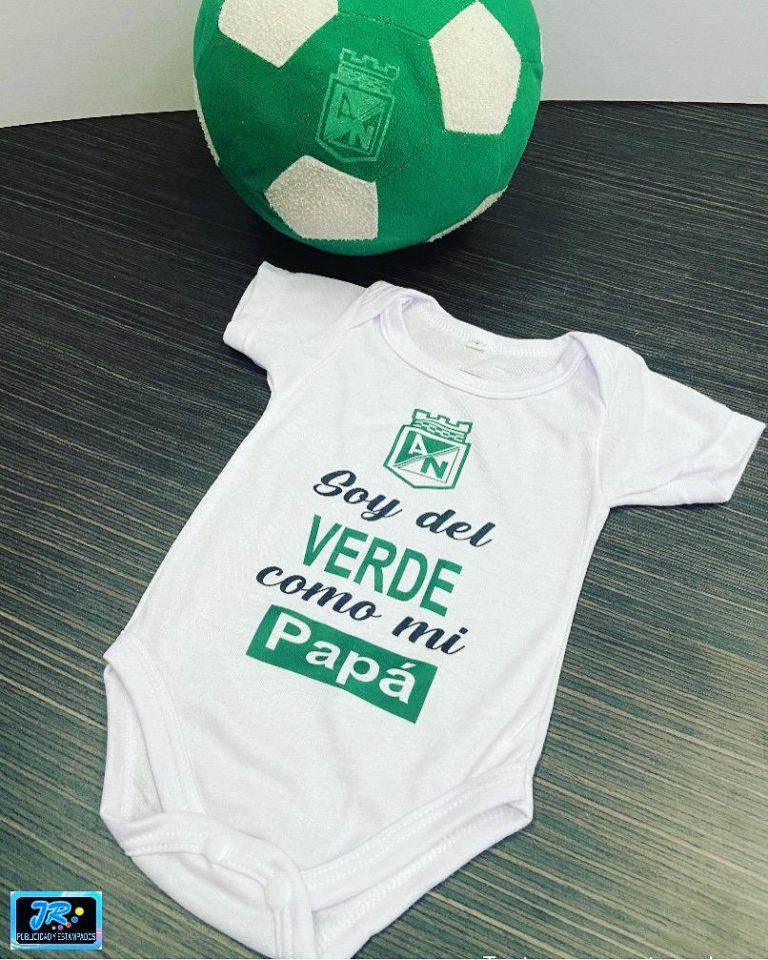 mamelucos personalizados soy del verde como mi papa atletico nacional