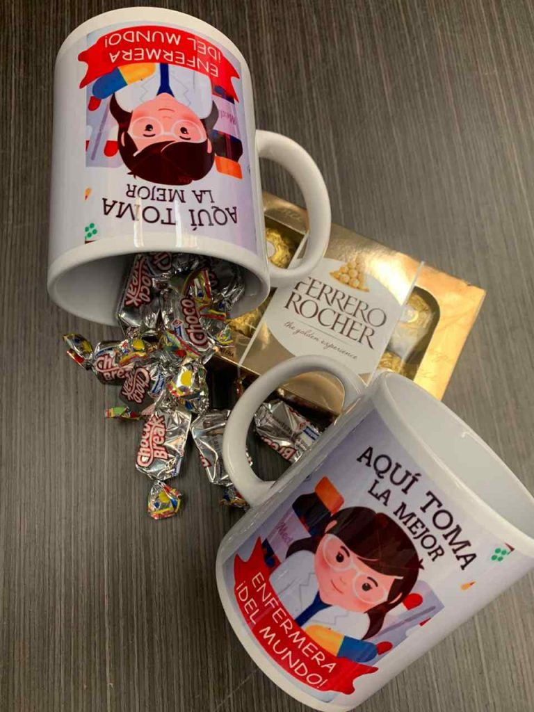 mugs personalizados aquí toma la mejor enfermera del mundo
