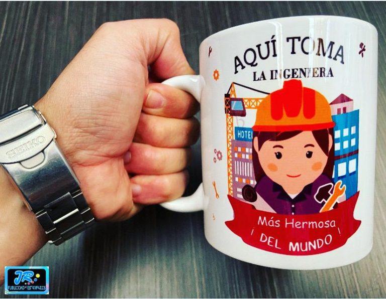 mugs personalizados aquí toma la ingeniera