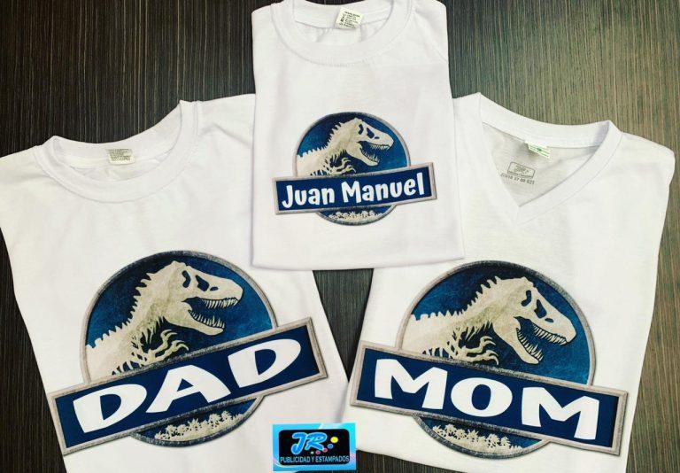 mundo jurásico camisetas personalizadas