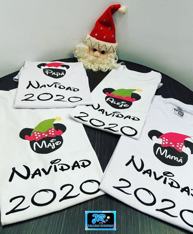 navidad 2020 en familia - camisetas personalizadas