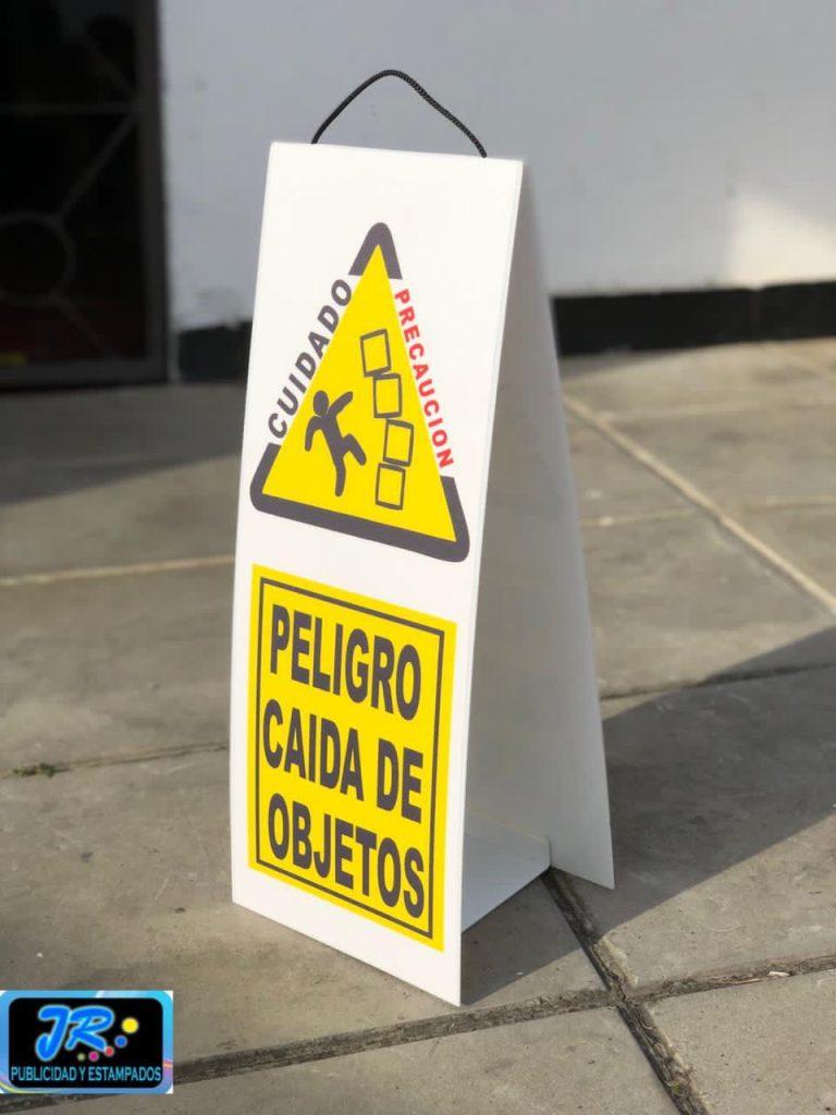 señalizacion peligro caída de objetos